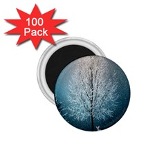 Winter Wintry Snow Snow Landscape 1 75  Magnets (100 Pack)  by Celenk
