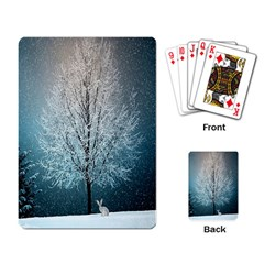 Winter Wintry Snow Snow Landscape Playing Card by Celenk
