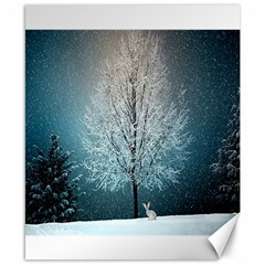 Winter Wintry Snow Snow Landscape Canvas 8  X 10  by Celenk
