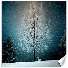 Winter Wintry Snow Snow Landscape Canvas 12  X 12   by Celenk