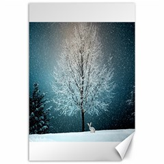 Winter Wintry Snow Snow Landscape Canvas 24  X 36  by Celenk