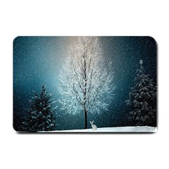 Winter Wintry Snow Snow Landscape Small Doormat  by Celenk