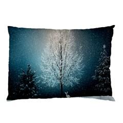Winter Wintry Snow Snow Landscape Pillow Case by Celenk