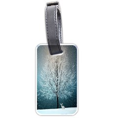 Winter Wintry Snow Snow Landscape Luggage Tags (two Sides) by Celenk