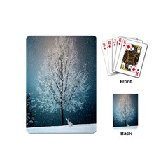 Winter Wintry Snow Snow Landscape Playing Cards (mini)  by Celenk