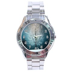 Winter Wintry Snow Snow Landscape Stainless Steel Analogue Watch by Celenk