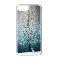 Winter Wintry Snow Snow Landscape Apple Iphone 7 Plus Seamless Case (white) by Celenk