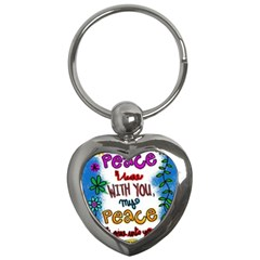 Christian Christianity Religion Key Chains (heart)  by Celenk