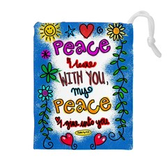 Christian Christianity Religion Drawstring Pouches (extra Large) by Celenk