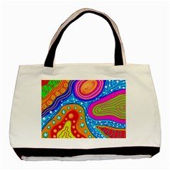Abstract Pattern Painting Shapes Basic Tote Bag by Celenk