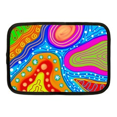 Abstract Pattern Painting Shapes Netbook Case (medium)  by Celenk
