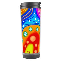 Abstract Pattern Painting Shapes Travel Tumbler by Celenk