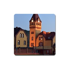 Blue Hour Colliery House Square Magnet by Celenk