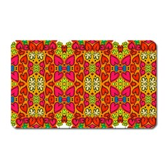 Abstract Background Pattern Doodle Magnet (rectangular) by Celenk