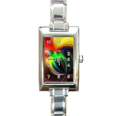 Circle Lines Wave Star Abstract Rectangle Italian Charm Watch