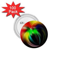 Circle Lines Wave Star Abstract 1 75  Buttons (100 Pack)  by Celenk
