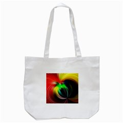 Circle Lines Wave Star Abstract Tote Bag (white) by Celenk