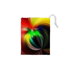 Circle Lines Wave Star Abstract Drawstring Pouches (xs)  by Celenk