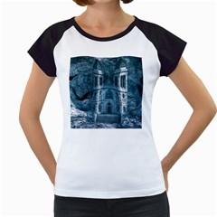 Church Stone Rock Building Women s Cap Sleeve T