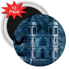 Church Stone Rock Building 3  Magnets (10 pack)