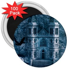 Church Stone Rock Building 3  Magnets (100 pack)
