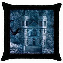 Church Stone Rock Building Throw Pillow Case (Black)