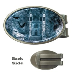 Church Stone Rock Building Money Clips (oval)  by Celenk
