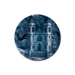 Church Stone Rock Building Rubber Round Coaster (4 pack)