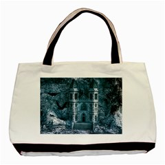 Church Stone Rock Building Basic Tote Bag (Two Sides)