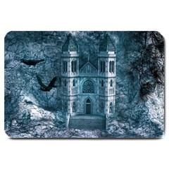 Church Stone Rock Building Large Doormat