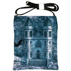 Church Stone Rock Building Shoulder Sling Bags