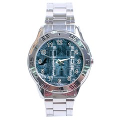 Church Stone Rock Building Stainless Steel Analogue Watch