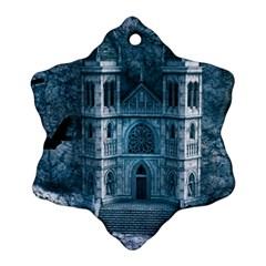 Church Stone Rock Building Ornament (Snowflake)