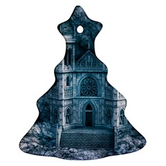 Church Stone Rock Building Christmas Tree Ornament (two Sides) by Celenk