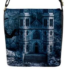 Church Stone Rock Building Flap Messenger Bag (S)