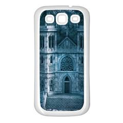 Church Stone Rock Building Samsung Galaxy S3 Back Case (White)