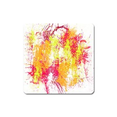Painting Spray Brush Paint Square Magnet by Celenk