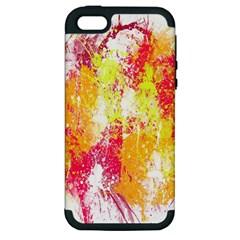 Painting Spray Brush Paint Apple Iphone 5 Hardshell Case (pc+silicone)