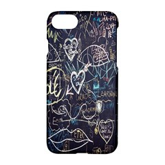 Graffiti Chalkboard Blackboard Love Apple Iphone 8 Hardshell Case by Celenk