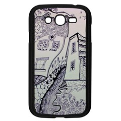 Doodle Drawing Texture Style Samsung Galaxy Grand Duos I9082 Case (black)