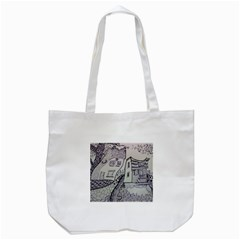 Doodle Drawing Texture Style Tote Bag (white) by Celenk