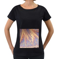 Flourish Artwork Fractal Expanding Women s Loose Fit T Shirt (black)