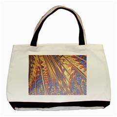 Flourish Artwork Fractal Expanding Basic Tote Bag (two Sides) by Celenk