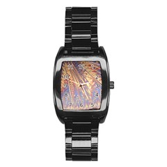 Flourish Artwork Fractal Expanding Stainless Steel Barrel Watch
