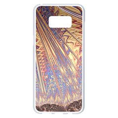 Flourish Artwork Fractal Expanding Samsung Galaxy S8 Plus White Seamless Case by Celenk