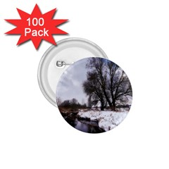 Winter Bach Wintry Snow Water 1 75  Buttons (100 Pack)  by Celenk