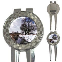 Winter Bach Wintry Snow Water 3 In 1 Golf Divots by Celenk