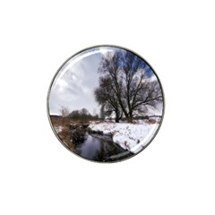 Winter Bach Wintry Snow Water Hat Clip Ball Marker by Celenk
