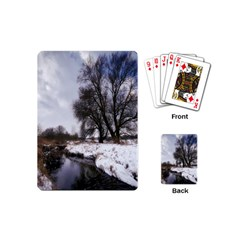 Winter Bach Wintry Snow Water Playing Cards (mini)  by Celenk