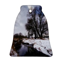 Winter Bach Wintry Snow Water Bell Ornament (two Sides) by Celenk